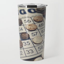 Vintage Bingo Board Game 7 Travel Mug