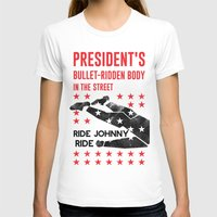 jfk T-shirts featuring Misfits JFK Poster Series - Bullet-Ridden Body by Robert John Paterson