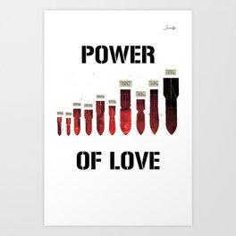 Bombes power of love colors rose noir urban fashion culture Jacob's 1968 Paris Agency Art Print