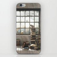 introvert iPhone & iPod Skins featuring The Introvert by Cynthia Decker