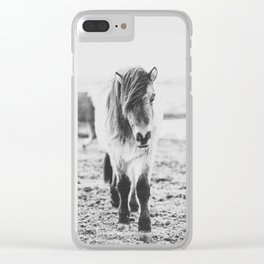 WILD HORSES IV / Iceland Clear iPhone Case