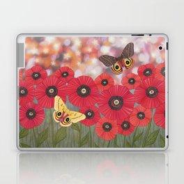 the moon, stars, io moths, & poppies Laptop & iPad Skin