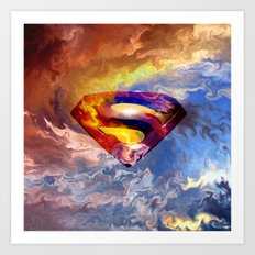 SUPER MANN Art Print