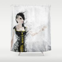 angel Shower Curtains featuring Angel by Melissa Smith