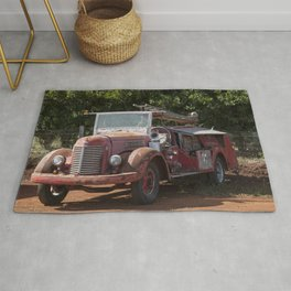 Antique Fire Truck Rug