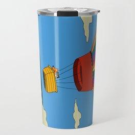 Dharma & Maya in a hot-air balloon Travel Mug