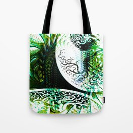 Opposition Green Inversion Tote Bag