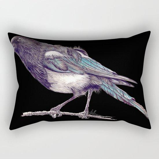 Juvenile Magpie Rectangular Pillow