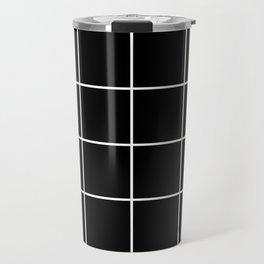 BLACK AND WHITE GRID Travel Mug