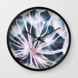 Elegant Dandelion Seeds Macro Abstract Wall Clock