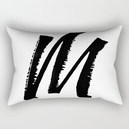 Letter M Ink Monogram Rectangular Pillow