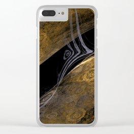 Gold Trap Clear iPhone Case