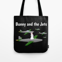 Bunny and the Jets Tote Bag