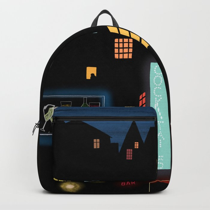 Late Night Neon Lights Backpack