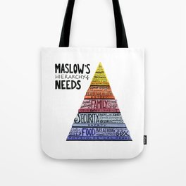 Maslow's Hierarchy of Needs Tote Bag