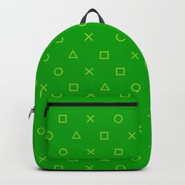 Green Gamer Pattern Backpack
