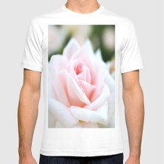 Rose Mens Fitted Tee MEDIUM White
