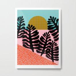 B.F.F. - throwback 80s style memphis design neon art print hipster brooklyn palm springs resort patt Metal Print