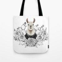 lama Tote Bags featuring Lama by Melanie Blanchard