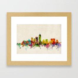 Indianapolis Indiana Skyline Framed Art Print