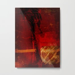 Abstract Red Light Metal Print