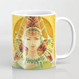 """Portrait with headset"" Notebook Coffee Mug"