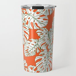 Hand drawing monstera Travel Mug
