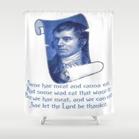 poem Shower Curtains featuring The Selkirk Grace Burns Night Supper Poem by taiche