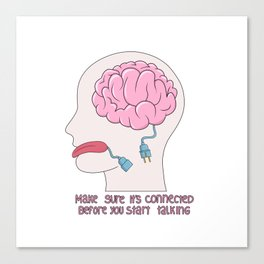 Unplugged Brain Canvas Print