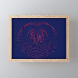 """"""" One hearth"""" geometric Framed Mini Art Print"""