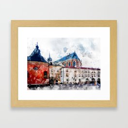Cracow art 21 #cracow #krakow #city Framed Art Print