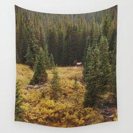 Rocky Mountain Creek Elk Wall Tapestry