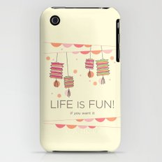 life is fun iPhone (3g, 3gs) Slim Case