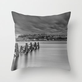 Dramatic Skies Over Cardiff Bay Throw Pillow