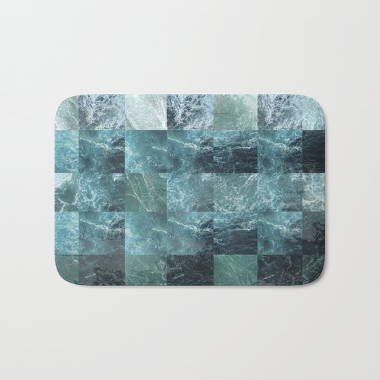 Abstract sea Bath Mat