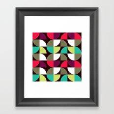 Quater circle shape pattern Framed Art Print