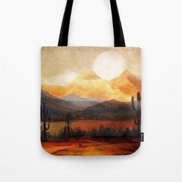 Desert in the Golden Sun Glow Tote Bag