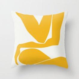 Yellow anatomy Throw Pillow