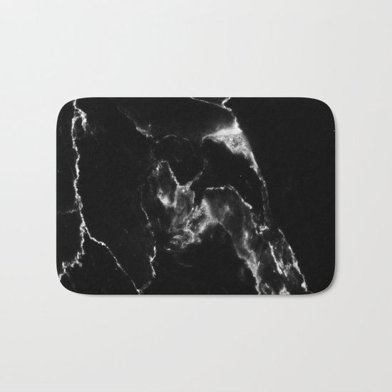 Black Marble I Bath Mat