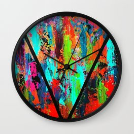 Abstract Triangle Wall Clock