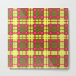 Yellow and red Tartan (Scotch) Pattern Metal Print