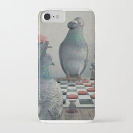 The Antlered Ship_Pigeons Playing Checkers iPhone Case