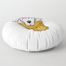 Dog Ice Cream Owner Funny Quote Bulldog Floor Pillow