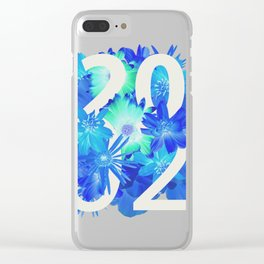 Blue Flower 2002 Clear iPhone Case