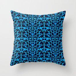 Blue Shades Animal Print Throw Pillow