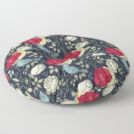 The Nightingale and the Rose Floor Pillow