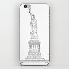 Statue of Liberty Blueprint iPhone Skin