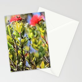 Ohi'a Lehua and her bee Stationery Cards