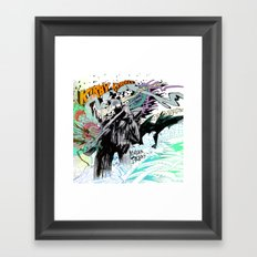 Kirby Krackle MUTATE, BABY! Album Cover (Wraparound Art) Framed Art Print