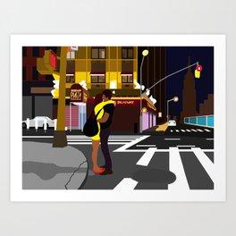Broadway Kiss Art Print